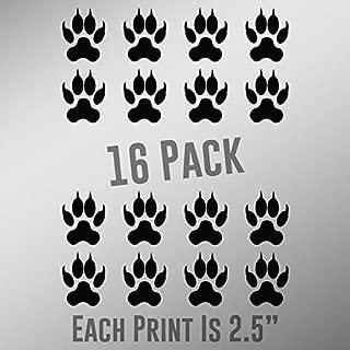 ND030 Cat Paw Prints 16-Pack | 2.5-Inches | Premium Quality Black Vinyl