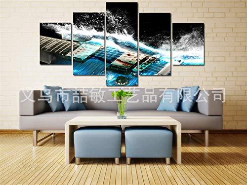 RunYun HD kunstenaar decoratie olieverfschilderij vijf bann gitaar platform 40x60cm (x2) 40x80cm (x2) 40x100cm (x1) geen lijst