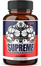Ultimate T-Booster Supreme Supplement, 11 Concentrated Herbs Equivalent to 14000mg Powder- Ashwagandha, Tribulus Terrestris, Ginseng Roots, and More - 60 Capsules - 1 Month Supply