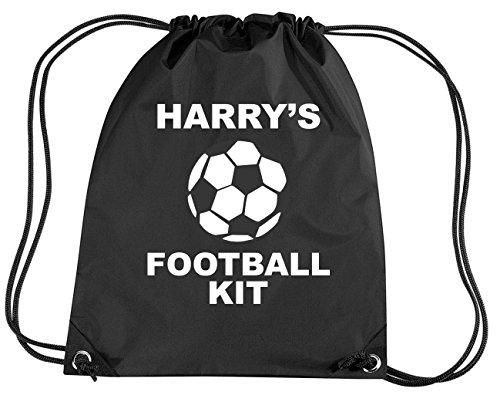 Negro personalizable con de balón de fútbol para las niñas juego de...