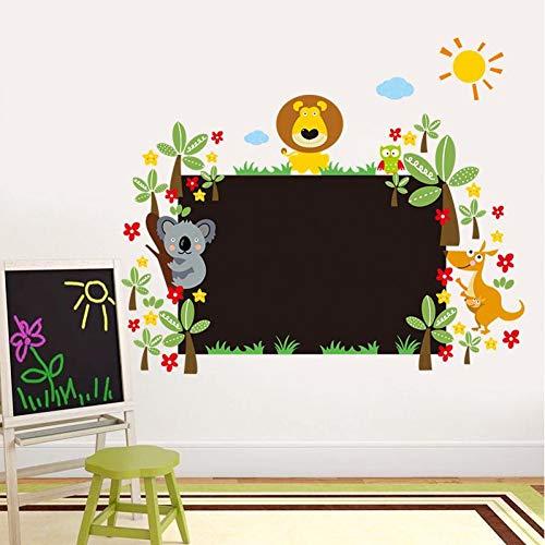 Mooie dieren Krijtbord Stickers Klasse Kamer Decor Kids Gift Home Decals Kwekerij Cartoon Mural Art Poster