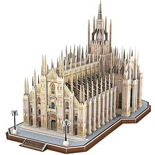 BOXSBAI Duomo di Milano, Italia - Taglio di Legno di Puzzle 3D Adult Model Kit Creativo Valentine/Ragazzo e della Ragazza di Compleanno Anime del Fumetto di decompressione