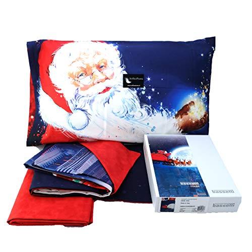 Bassetti Imagine Completo Lenzuolo O Copripiumino Xmas Natale (Completo Lenzuolo)
