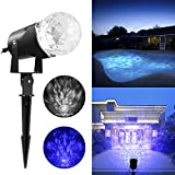 Elepawl Magical Spotlight Rotating Led Projector Light with Flame Lightings, Lightshow Projection Kaleidoscope LED for Indoor Outdoor Halloween Christmas Festival Decorations for Home Garden Landscape
