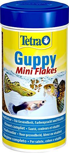 Tetra Guppy Mini Flakes, ausgewogenes, nährstoffreiches Flockenfutter für Guppies, verschiedene Sorten