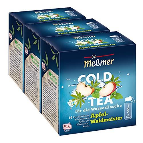 Meßmer Cold Tea Apfel-Waldmeister, 14 Pyramidenbeutel, 3er Pack