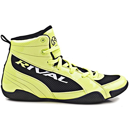 Rival Boxing Lo-Top Youth Guerrero Boots - 5 - Lime/Black