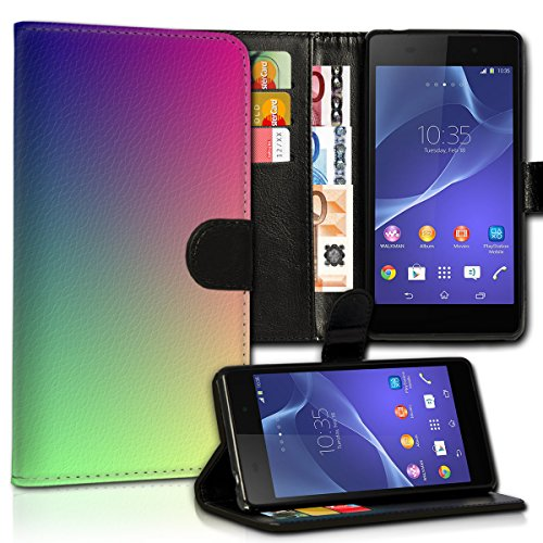 wicostar Book Style Huawei Y360 Premium PU-Leder Tasche Flip Brieftasche Handy Hülle Kartenfächer mit Standfunktion für Huawei Y360 - Design Flip MVC57