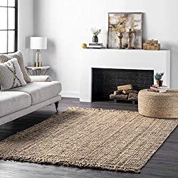 professional NuLOOM Natura Collection Jute Lag, Fixed Loop, 5'x 8′, Natural