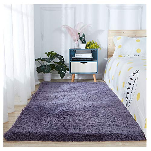 Teppich Extra Weich Kunstfell Pelz Stil Teppich Faux Fleece Flauschig Bereich Teppiche Anti-Rutsch Yoga Teppich Für Wohnzimmer Schlafzimmer Sofa Boden Teppiche Accessoires Wohnzimmer,Lila2,200x250