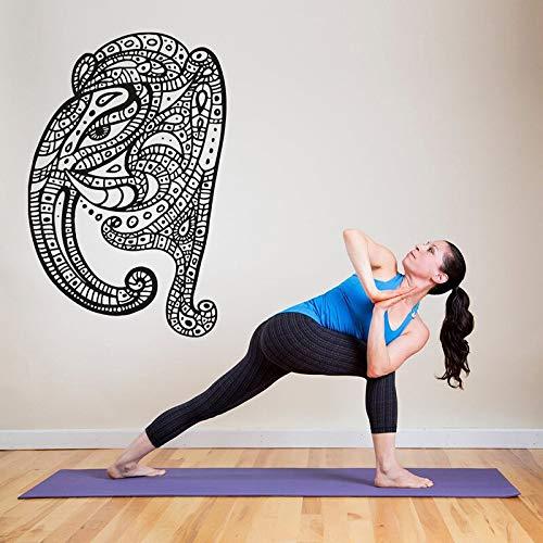 Hetingyue Yoga Hindou Ganesha muurschildering, vinyl, voor slaapkamer, huis, yoga, decoratie