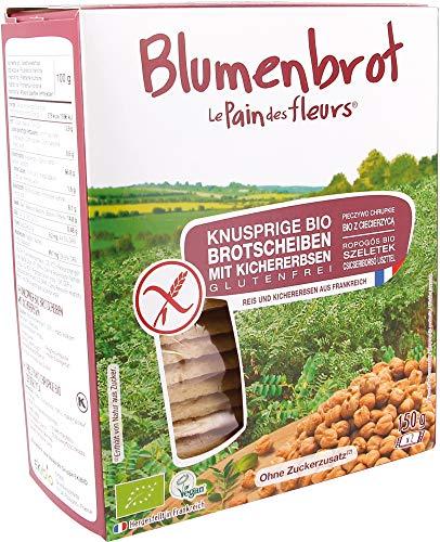 Blumenbrot Bio Knusprige Bio Kichererbsen-Schnitten (2 x 150 gr)