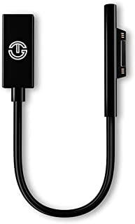 Surface Connect to USB-C Adapter by J-Go Tech | USB C Power Dongle | Works with 45W USB C PD Chargers | Charges Microsoft Surface Pro 6 Pro 5 Pro 4 Pro 3, Surface Go Book Laptop (Adapter Only)