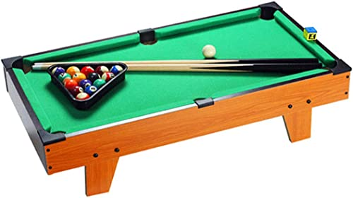 Zgifts Mini Tabletop Pool Set-Solid Wood Portable Billards Game Snooker Table Toy Gaming Men damen for Kids Adults Family Home Party, Grün