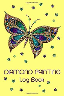 Diamond Painting Log Book: [Deluxe Edition with Space for Photos] Crystal Butterfly Design
