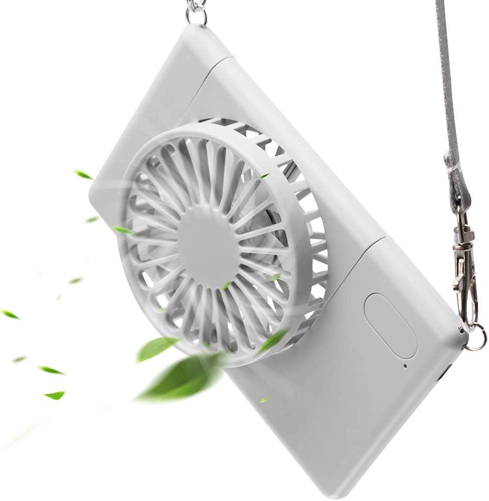 Neck Fan, LETOUR Handheld Fan Mini Fan Portable USB Personal Fan 3 Speeds 90°Rotating Adjustable USB Fan for Kids Women Men Indoor Outdoor Travel with Lanyard
