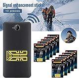 Prettymyself Aufkleber zur Verbesserung des Mobiltelefonsignals, Signalverstärker für Mobiltelefonantennen, Signalverstärker für Mobiltelefone, Verstärkung Ihres Signals in Travelling-10Pcs