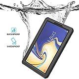 FindaGift Wasserdicht Hülle for Samsung Galaxy Tab S4 10.5 inch, CaseFirst IP68 Wasserfeste Staubdicht Shockproof Schutz Unterwasser Schutzhülle mit Bildschirmschutzfolie (Schwarz)