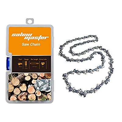 """SALEM MASTER 18 Inch Chainsaw Chains - .050"""" Gauge - 3/8 LP Pitch - 62 Drive Links, Semi-Chisel Gas Powered Chainsaw Chain Fits for Craftsman, Homelite, Basic Pack (18)"""