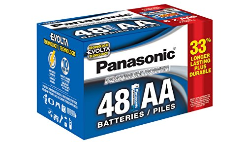 Panasonic Energy Corporation LR6XE/48PC Platinum Power AA Alkaline Battery, 48 Pack