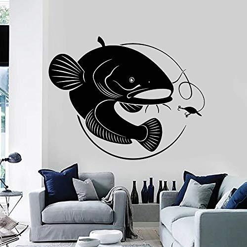 Tianpengyuanshuai wandsticker vis grote hengel hobby slaapkamer keuken decoratie huis deur raam sticker vinyl behang