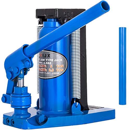 VEVOR Gato Hidráulico de 5T Elevador de Botella de Acero Inoxidable Elevador de Coches Hidráulico 11000lb Azul para Automóviles Furgonetas y Camiones