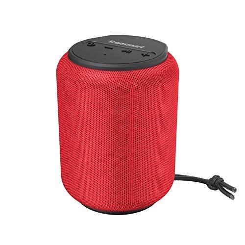 Bluetooth Lautsprecher 5.0, Tronsmart T6 Mini 15W Tragbarer Lautsprecher, 24-St&en-Spielzeit, 360° TWS Stereo So&, IPX6 wasserdicht, Unterstützung für TF/Micro-SD-Karte, Sprachassistent, Alexa-Rot