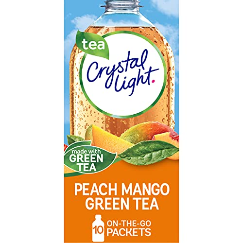 Crystal Light Sugar-Free Peach Mango Green Tea Drink Mix (10 On-the-Go Packets)