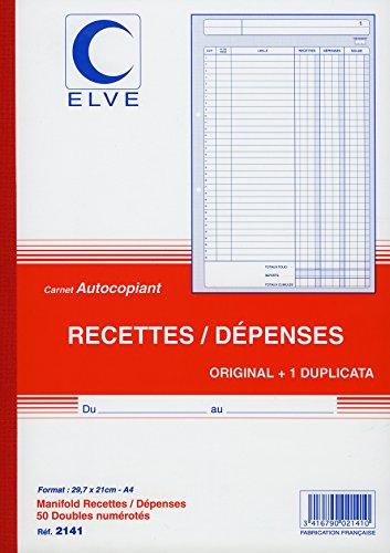 Lebon ET VERNAY Durchschreibeblock, Rezept/Ausgibt Format 21x 29,7cm 50Blatt DUPLI -