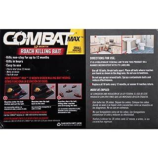 اسعار Combat Max 12 Month Roach Killing Bait, Small Roach Bait Station, Child-Resistant, 18 Count
