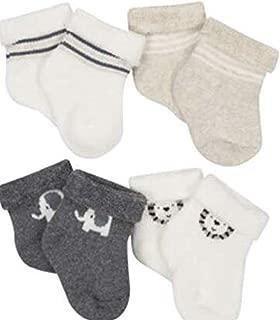 3 Pairs Ecoland Baby Organic Cotton Combo Crew Socks