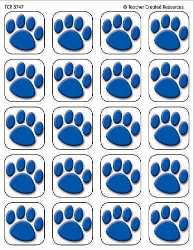 Teacher Created Resources, 120 Blue Paw Prints Stickers (5747)