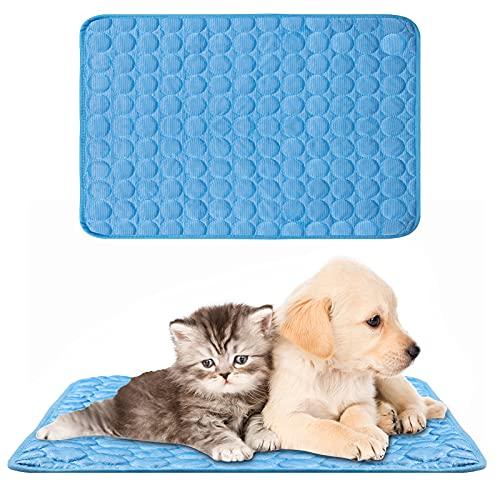 Alfombrilla de Refrigeración, XiYee Cojín para Perros Plegable y No Tóxico, 70 x 55cm Alfombra Refrescante, Impermeable y Resistente a la Rotura para Mantener a Las Mascotas Frescas (B)