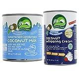 Nature's Charm Pack de 2: Leche De Coco Condensada 320ml & Crema de coco para batir 400ml   Sin lactosa