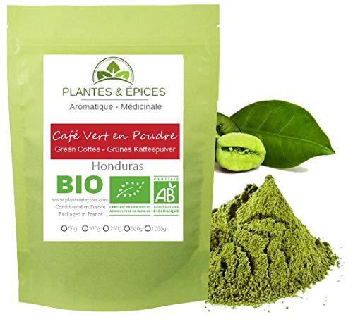 Plantes & Epices - Café Vert Moulu BIO, 100% naturel - Sachet fraîcheur refermable (250g)