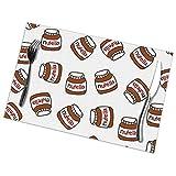 Tappetino modello Nutella, vassoio 12x18 in 6 pezzi di vassoio lavabile, tovaglietta da cucina resistente al calore da tavolo