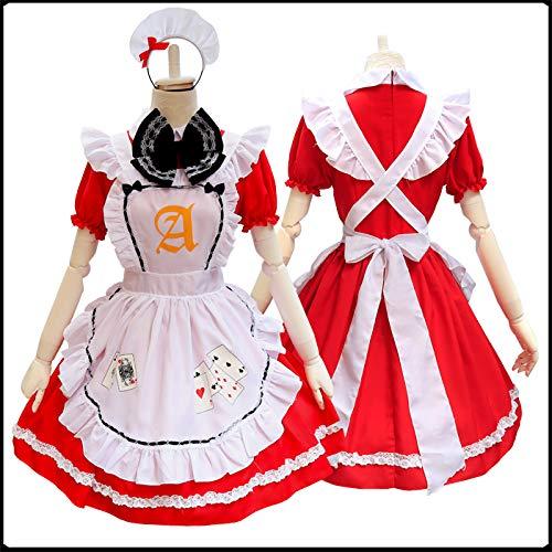 WSJDE Japanische Anime Cos Kleidung Alice im Wunderland Serie Poker Maid Kostüm Cosplay Kostüm