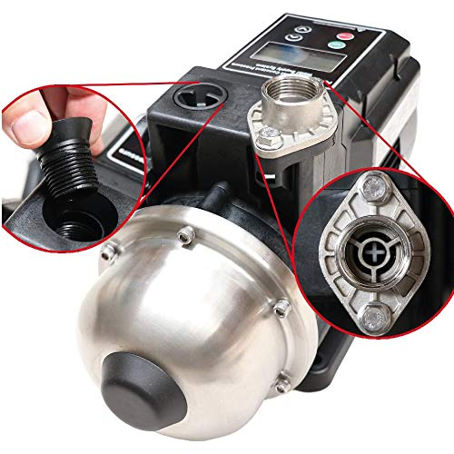 Grupo de Presion Inteligente EFFICIENT 1000W, 3500 Rpm, Qmax 4300 L / h · Bomba Centrifuga de Agua con Variador de Frecuencia, Presscontrol y Vaso de Expansión Integrado