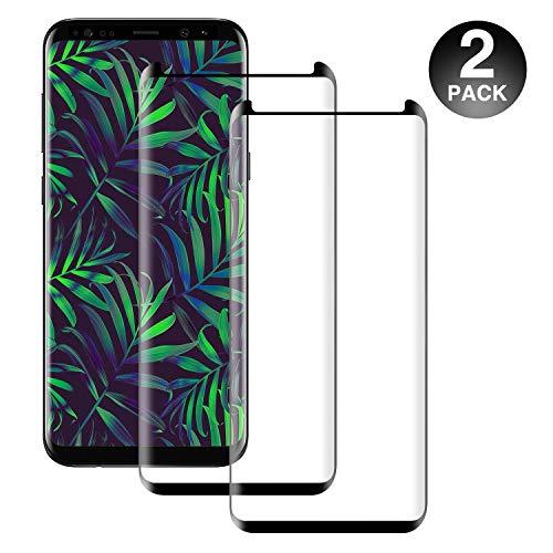 petit un compact Verre trempé PUUDUU pour Samsung S8 Plus [2 pièces] Dureté pleine couverture courbe 3D 9H,…