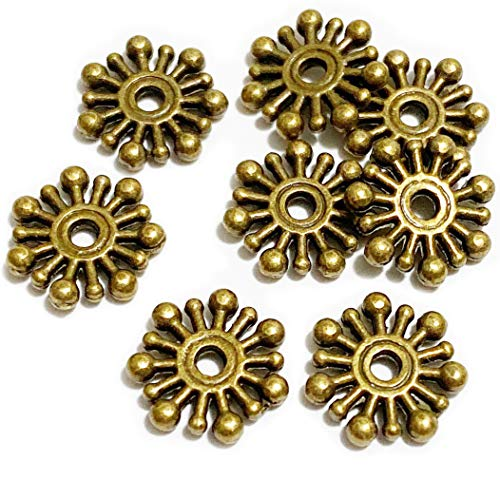 Brass Spacer Beads Snowflake BeadJewelry Jewelry Findings Beading Assortment DIY Accessories for Bracelet Necklace Jewelry Making BeadSpacers 100pcs