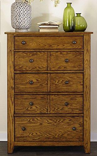 Liberty Furniture Industries Grandpa's Cabin 5 Drawer Chest, 38' x 18' x 53', Aged Oak