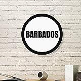 DIYTHINKER - Cuadro de madera con nombre de Barbados, diseñ