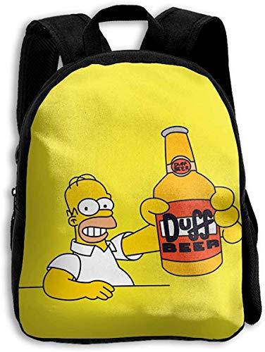 Kinder Simpsons Getränk Bier wasserdicht einfache leichte Stoffe Rucksack für den Schulungskurs
