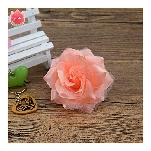 ZHENAO Lifelike 10Pcs Seda Grande Rose Flor Artificial para la Decoración Del Hogar de la Boda Hecha a Mano Diy Corsage Shoe Sombreros Accesorios Artesanía Flor Decoración de Bonsai