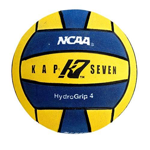 KAP K7 SEVEN KAP7 Size 4 HydroGrip Water Polo Ball (NCAA and NFHS Official), Yellow/Navy