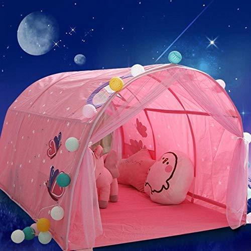 Yanqhua Tienda de Juegos Carpa niños Cama Tienda de Juego de la casa del Juego Interior Carpa Plegable Casa Playhouse Niño Niña Safe House Regalos Tent (Color : Pink)