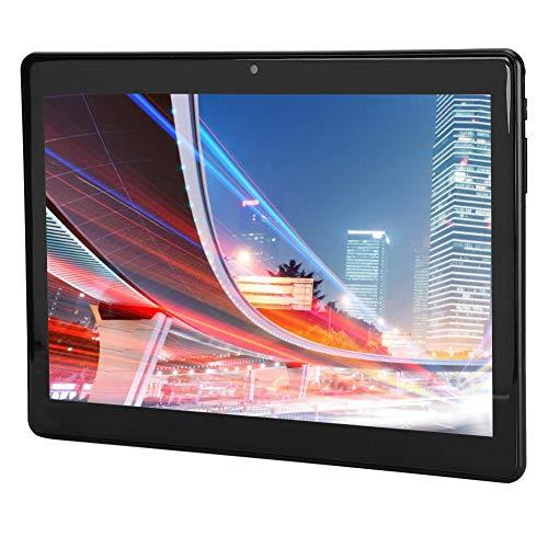 10,1-tums WLAN-surfplatta, 3G-telefonplattor och dubbelt SIM-kort samt fyrkärnig CPU och 5-megapixel dubbelkamera, 800 x 1280 IPS-skärm, FM, Bluetooth (svart EU)