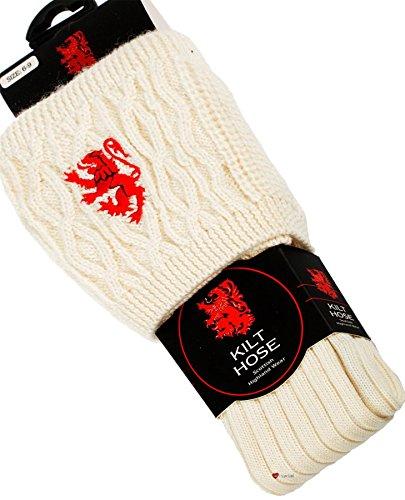 I Luv LTD Kilt Hose Socks Off White Cross Saltire Size UK 6-9 US 39-43