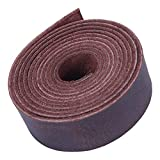 Leather Strap, Full Grain Buffalo Leather Strip for Crafts – Brown Leather Strips Ideal for DIY Belts, Crafting, Bracelets, Jewelry, Key Chains & More (1' x 60')
