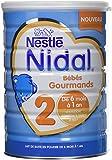 Nestlé Nidal 2 Bébés Gourmands - Lait bébé 2ème âge en poudre de 6 à 12 mois - Boîte de 800g